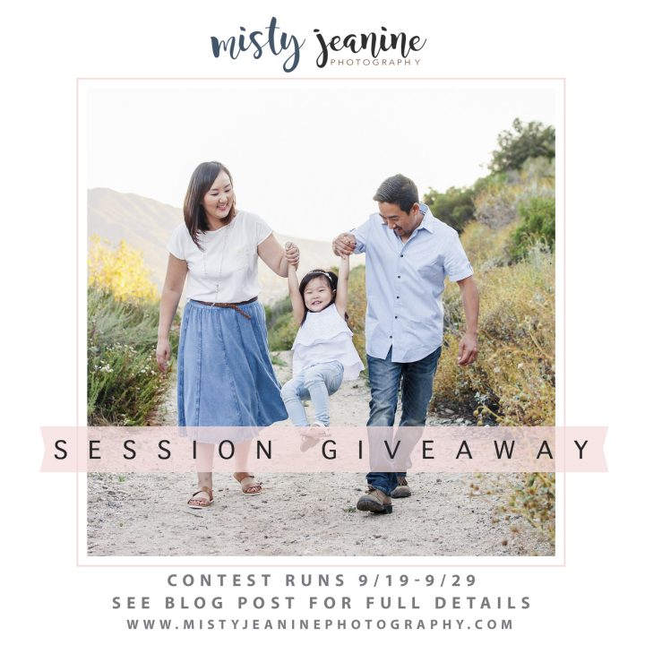 FREE PHOTO SESSION GIVEAWAY with Misty Jeanine Photography
