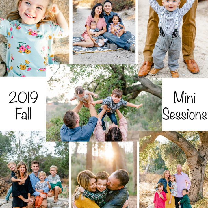 2019 Fall Mini Sessions - Book Now!